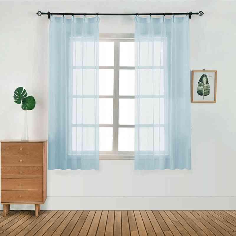 Window Tulle Plain Curtain