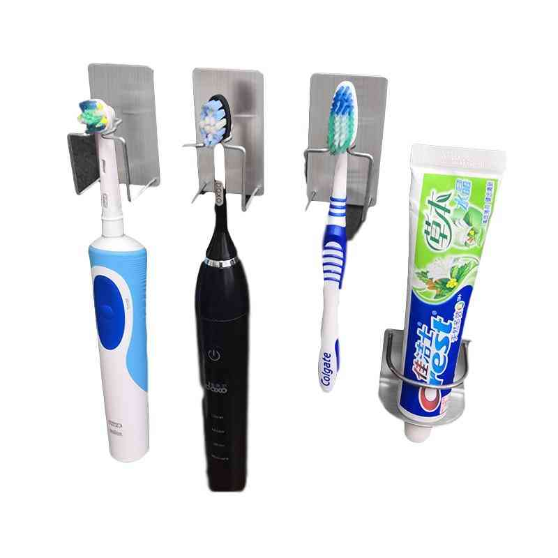 Storage Wall Stand Hook Stickers Use For Toothpaste,toothbrush, Bathroom Accessories.