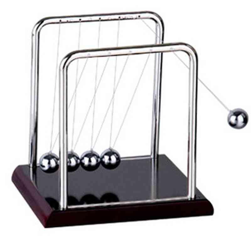 Newtons Cradle Steel Balance Balls Physics Science Pendulum - Fun Child Development Educational Desk Toy