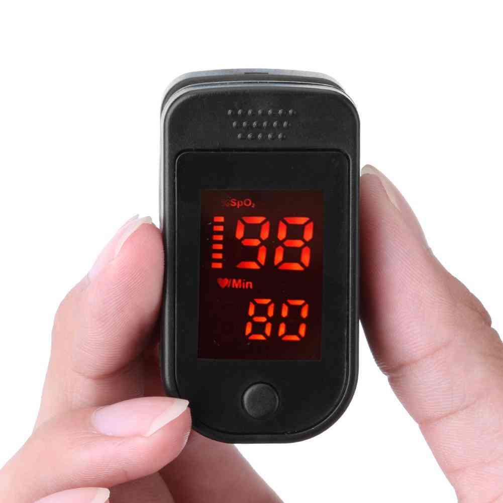 Digital Finger Pulse Blood Saturation Monitor - Heart Rate Detector Health Monitors