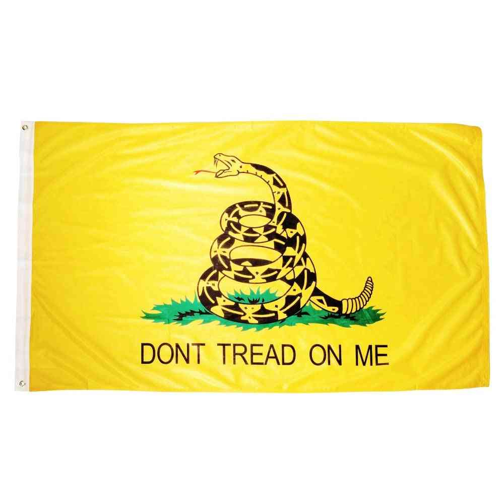 Don't Tread On Me Tea Party Rattle Snake Gadsden Flag