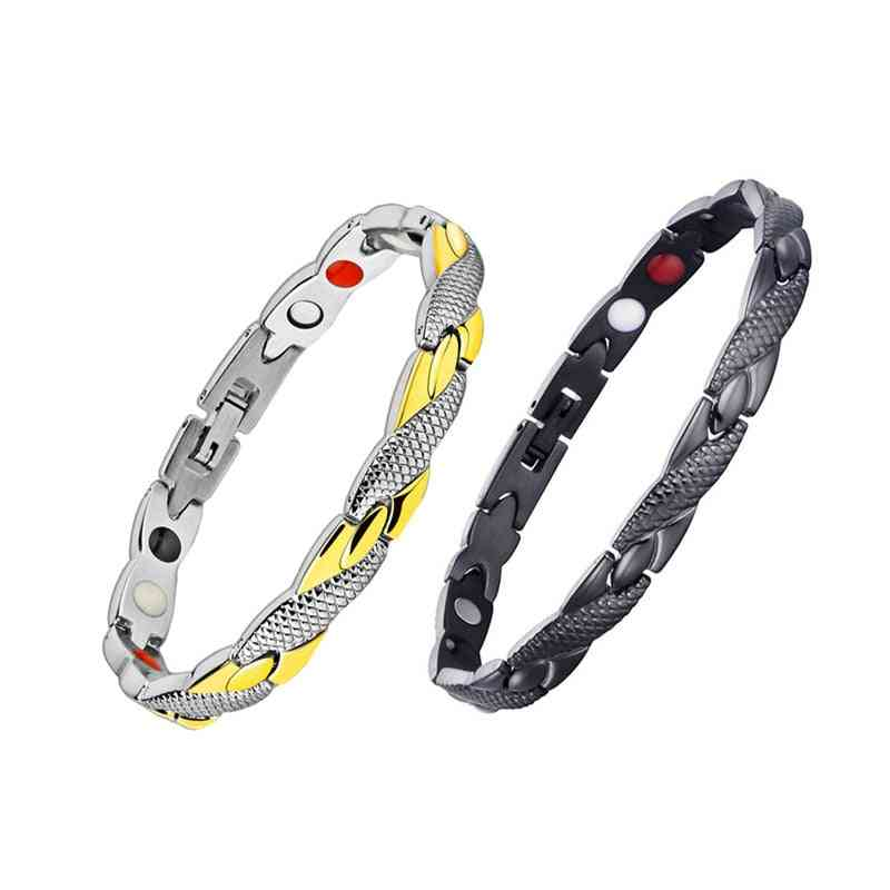 Weight Loss Magnetic Slimming Bracelet - Fashionable Jewelry For Man, Woman Link Chain