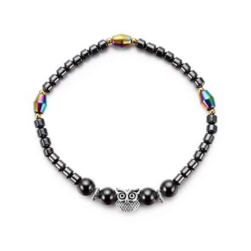 Magnetic Black Stone Anklet Used For Fashion Jewelry Leg Bracelets
