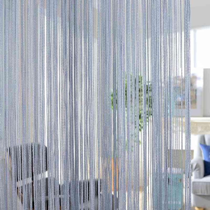 Solid Color Classic Line Stripe Curtain - Window Room Door Divider Decorative Stripe Curtain