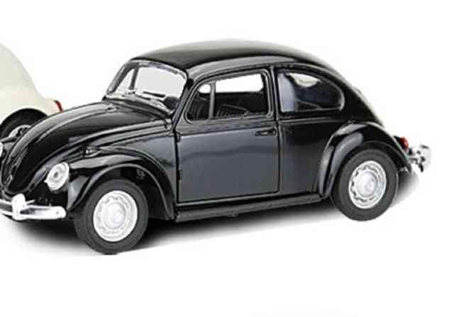 Vintage Beetle Diecast Pull Back Car Model Toy