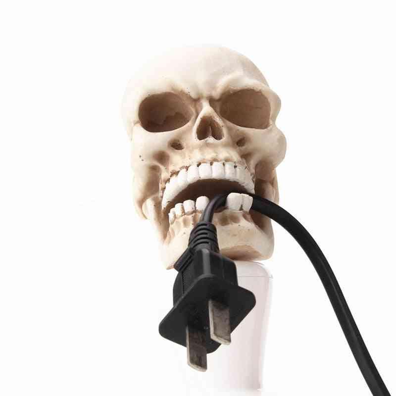 Creative Wall Mount Key Storage Hook Resin Skeleton Sculpture - Desk Ornament Statue For Halloween Party Decor