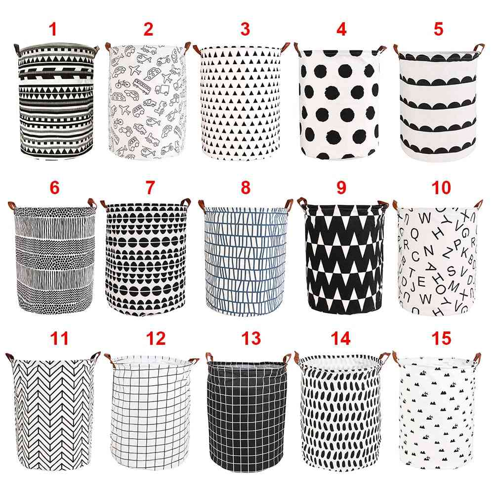 Folding Laundry Storage Basket And Household Organizers For Dirty Clothes And With Large Capacity