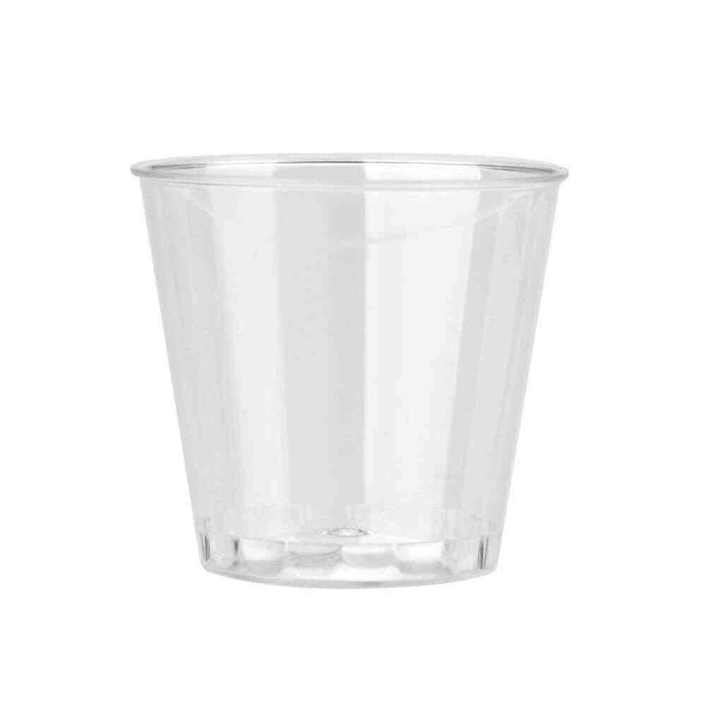 Clear Plastic Disposable Party Shot Glasses - Jelly Cups Tumblers Birthday
