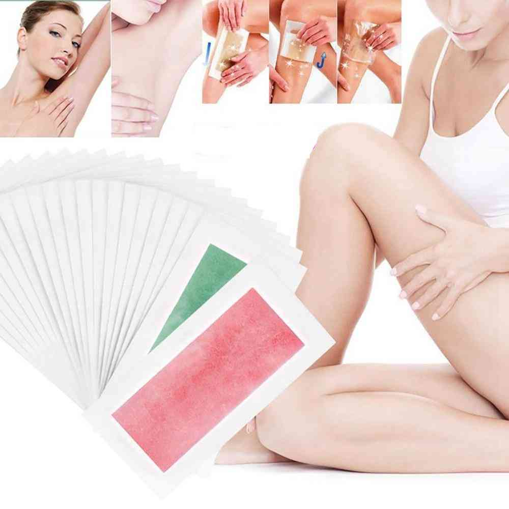 10pcs Natural Beeswax Double Side Depilation Hair Removal Wax Strips