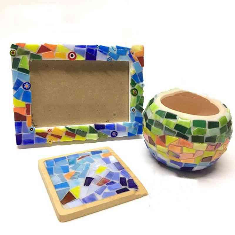 Diy Creative Mosaic Glass Mirror Inlay Tiles - Crafts Home Decoration