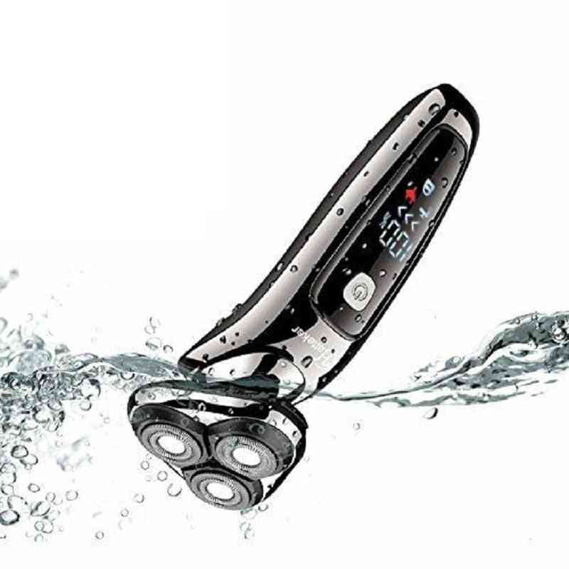 Wet Dry Electric Facial Razor - Beard Shaving Machine With Rotary Head