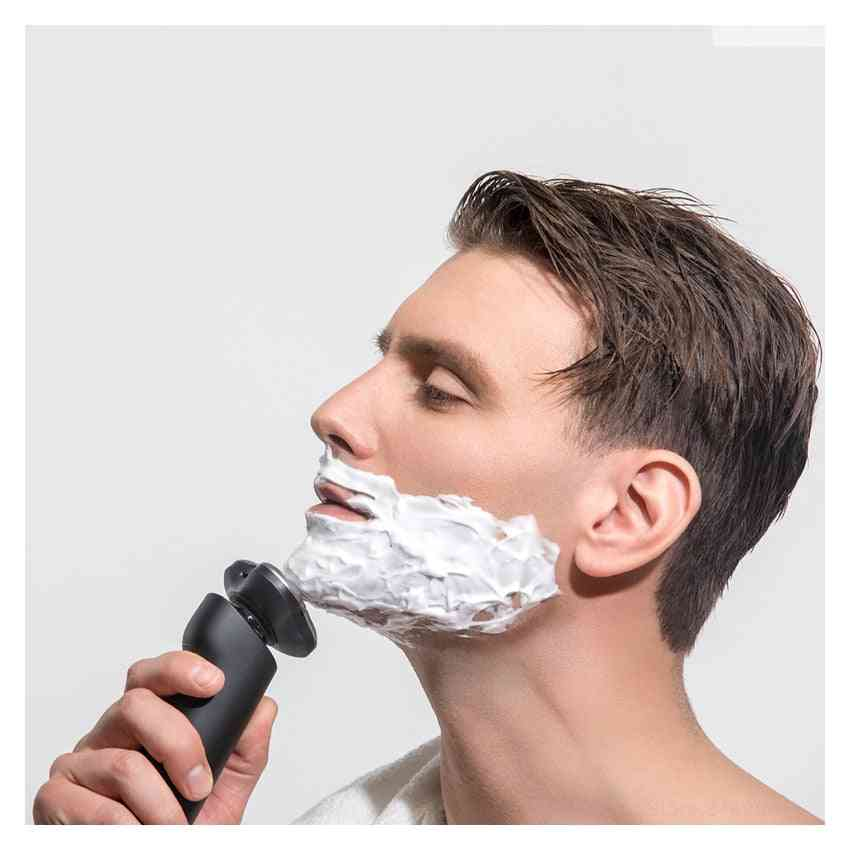 3 Head Dry Wet Shaving Washable Beard Trimmer - Electric Shaver