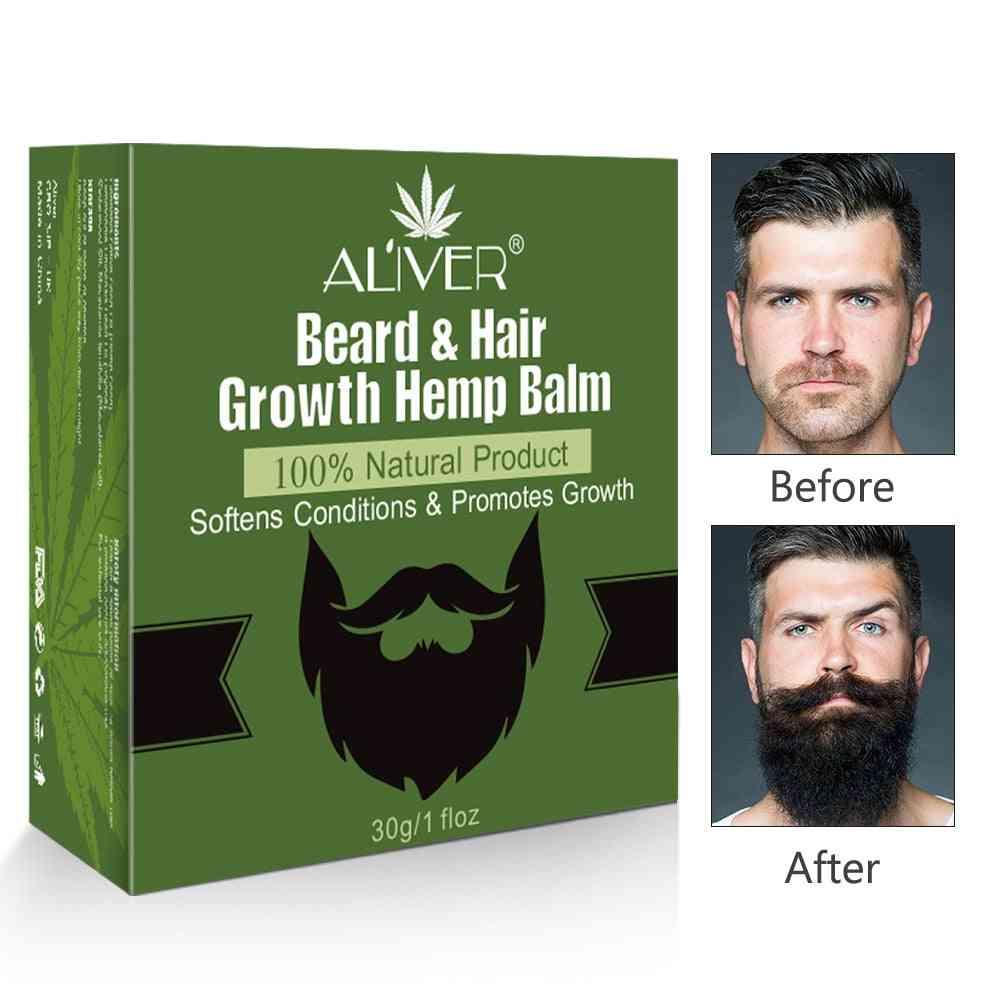 Natural Smooth Styling Hemp Beard Grooming Essential Oil, Growth Wax
