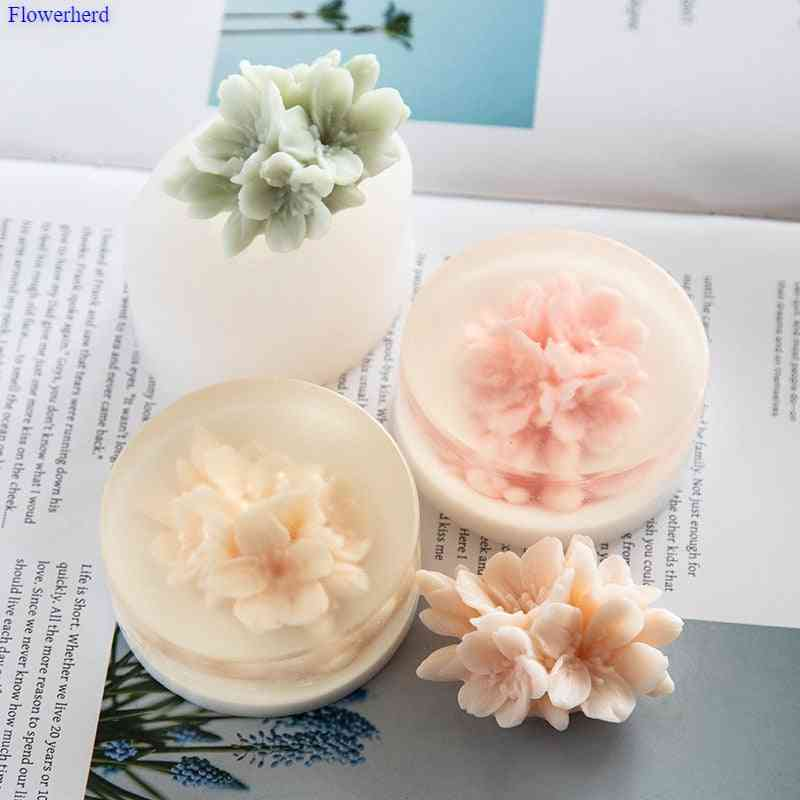 3d Flower Chocolate, Fondant Cake Decorating Food Grade Soap Mold - Baking Tools Silicone Molds