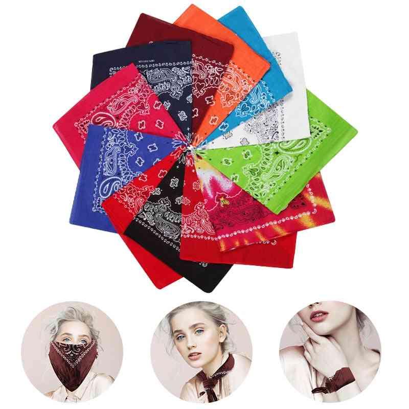 Multicolor Non-fading Paisley Design Square Cotton Large Bandanas, Men,,