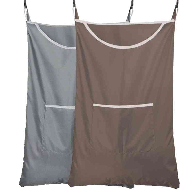 Durable Household Hanging Laundry Hamper - Over Door Large Capacity Dirty Clothes Storage Bag