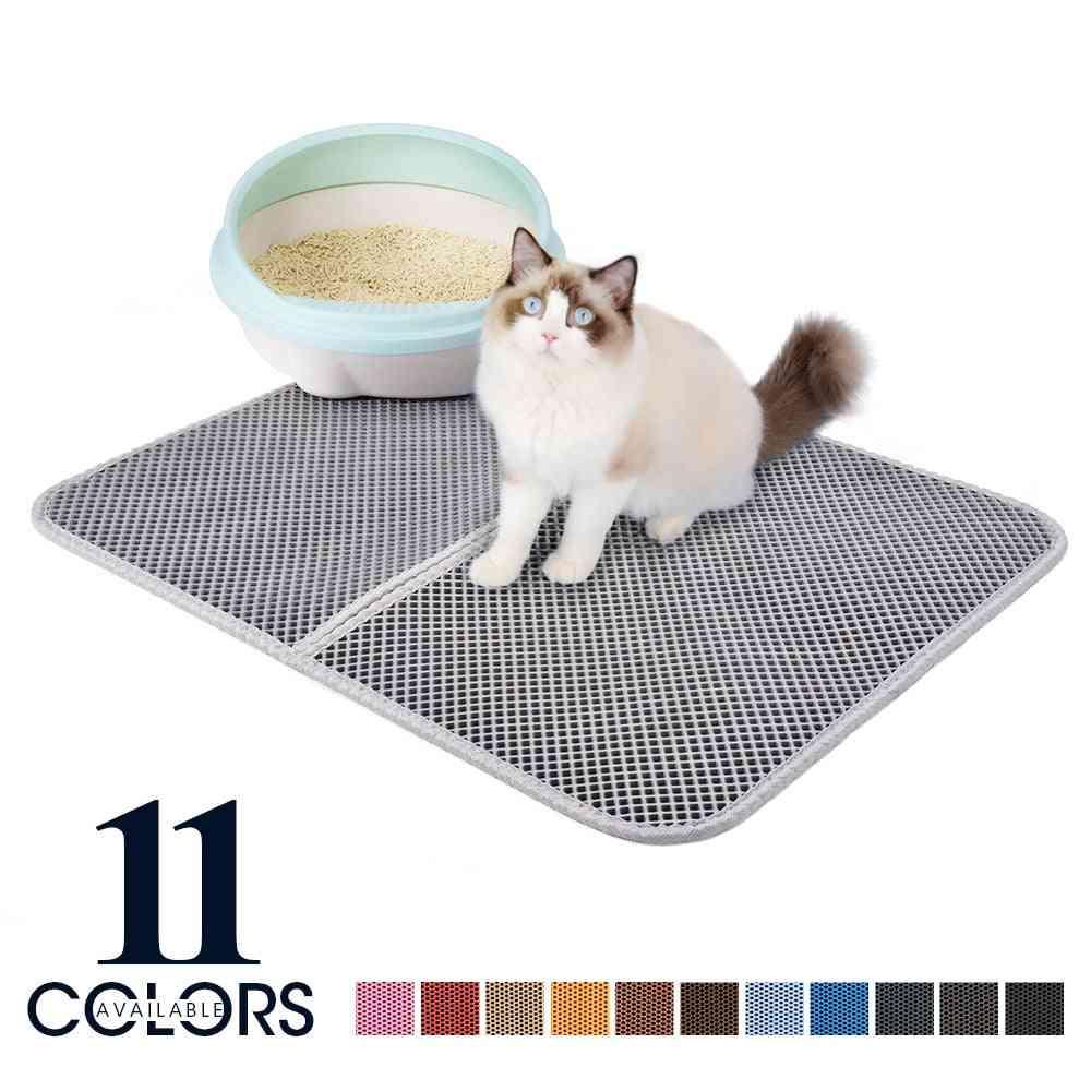 Double Layer Waterproof Non Slip Pet Cat Litter Mat Pad & Toilet