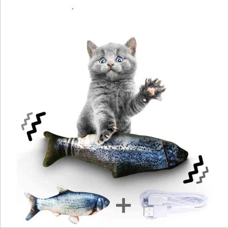 Electronic Usb Charging Simulation - Chewing Playing Fish For Pets
