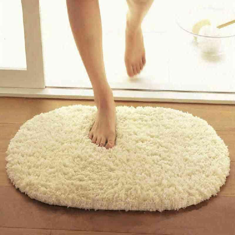 Coral Fleece Slip Resistant Floor Water Absorption Bathroom Doormat Rugs Doormat