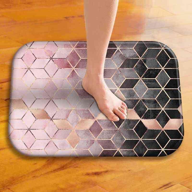 Anti Slip Mediterranean Non Fade Bath Mat - Home Entrance & Kitchen Floor Mat