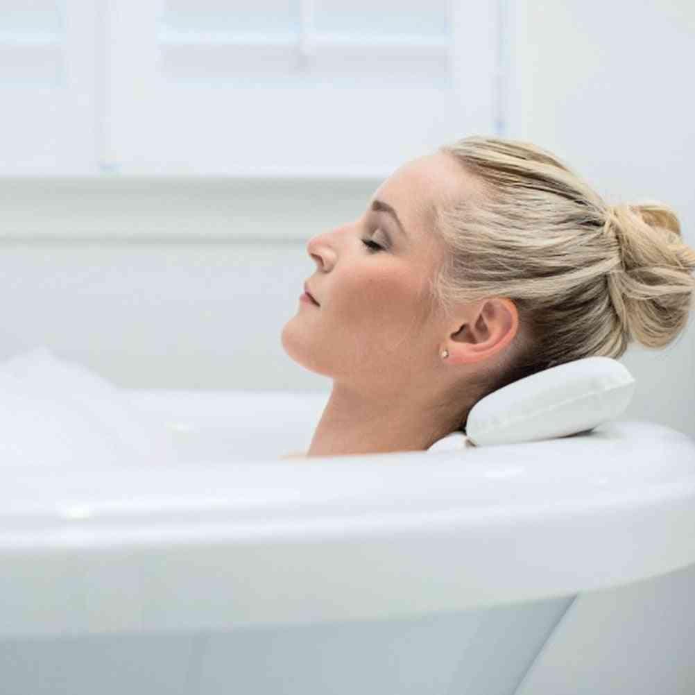 Bath Tub Suction Cup Anti Slip Spa Headrest Bath Pillow Cushion