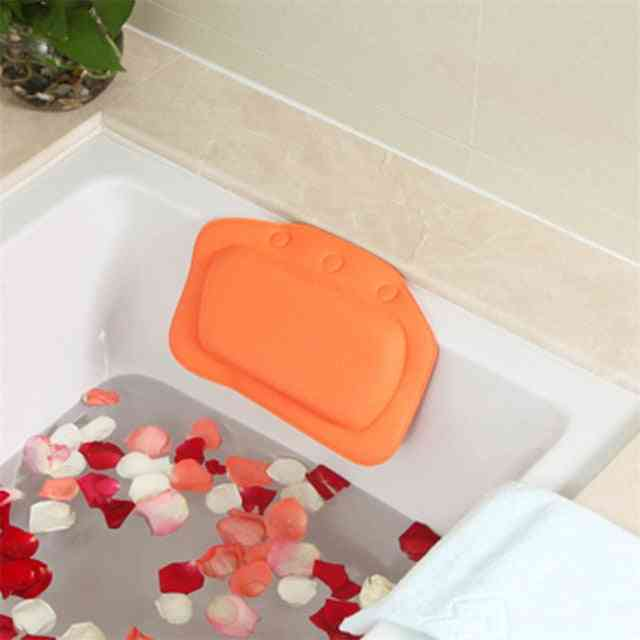 Soft Headrest Suction Cup Spa Bath Pillow - Home Bathtub Pvc Cushion