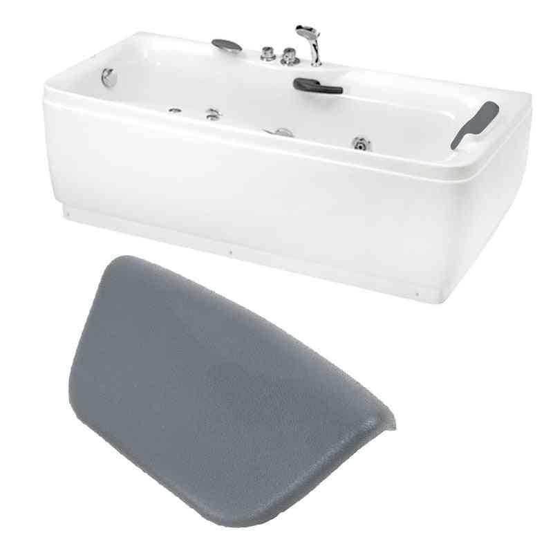 Luxury Spa Waterproof Pu Bathtub Headrest Suction Cup Foam Bath Pillow - Bathroom Body Mist Non-slip Bath Tub Pillow