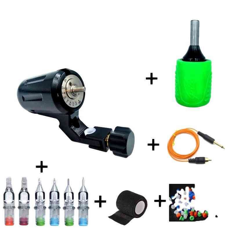 Adjustable Stroke Direct Drive Rotary Tattoo Machine With Free Rca Cord For Tattoo Supply