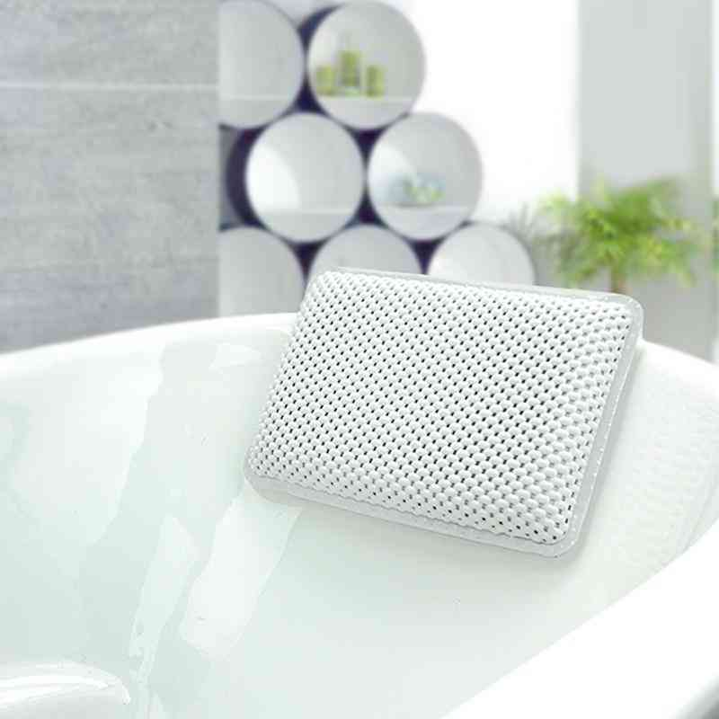 Breathablethicken Pvc Soft Waterproof Spa Headrest Bathtub Pillow With Backrest Suction Cup