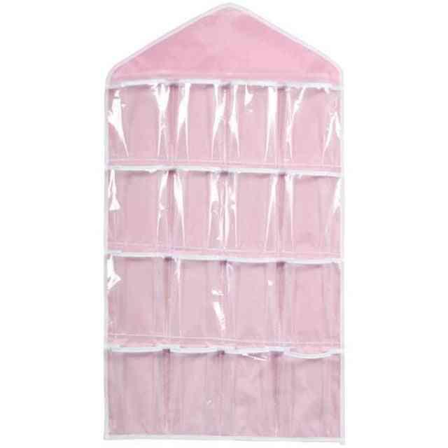 Clear Home Hanging Organizer - Socks, Bra, Underwear Rack Hanger Storage Organizer