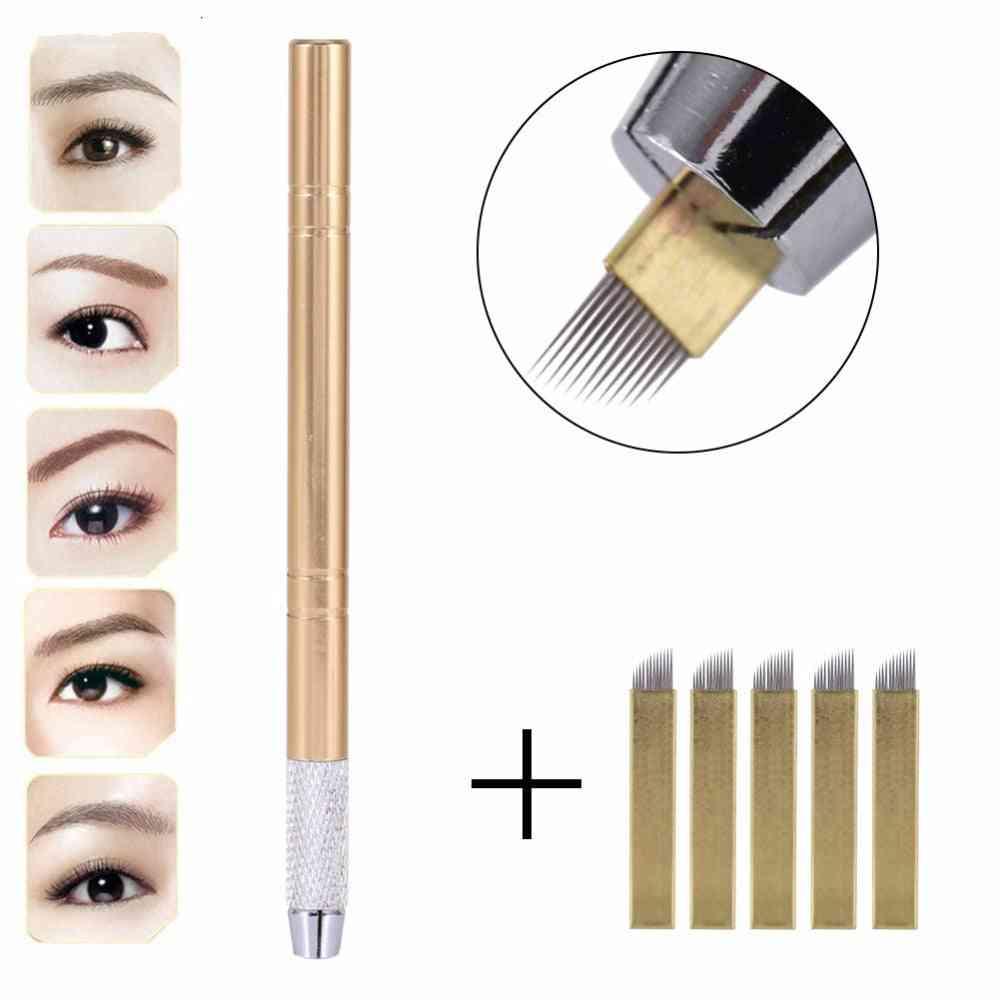 3d Eyebrow Tattoo Micro Blading Pen Of Stainless Steel Tattoo Supplies - Permanent Makeup Gun