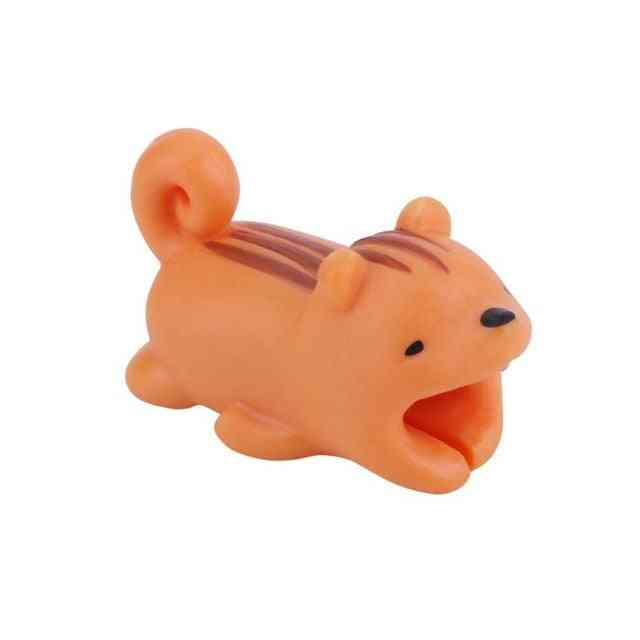 Cute Bite Cartoon Animal Cable Protector - Cord Wire Mini Cover Charging Cable Winder Protector