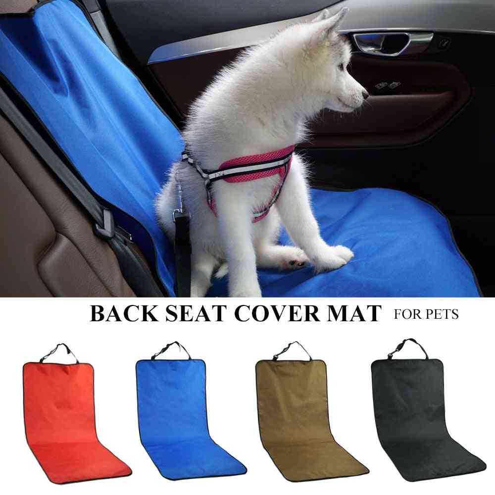 Waterproof Car Carrier Back Seat Pet Cover Protector Mat For Safety Travel