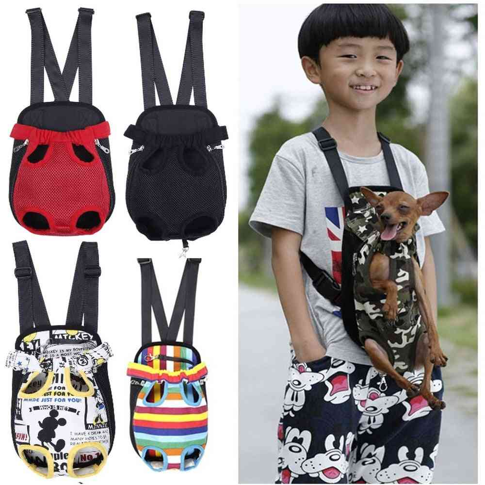 Pet Cat Puppy Dog Front Five Holes Chest Backpack , Carrier, Tote For Outdoor