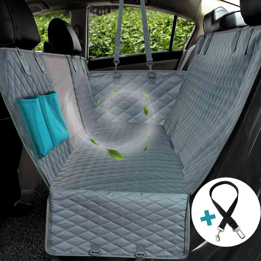 Waterproof Dog Car Seat Cover View Mesh - Hammock Cushion Protector With Zipper And Pockets