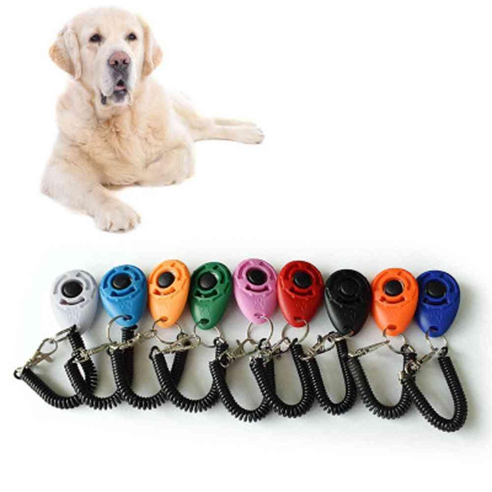 Pet Cat Dog Training Plastic Clicker - Adjustable Trainer Wrist Strap Sound Key Chain