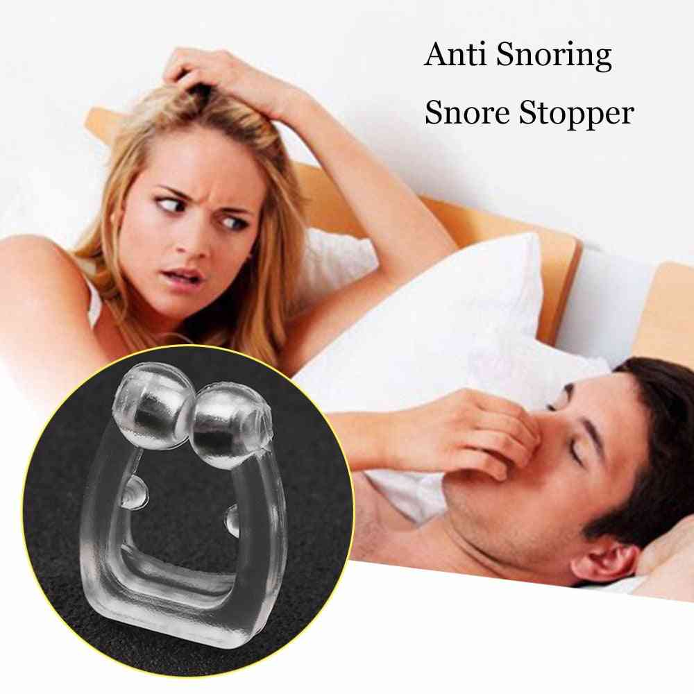 Soft Anti Snore Night Sleeping Nose Clip - Stop Snoring Nasal Dilators Device