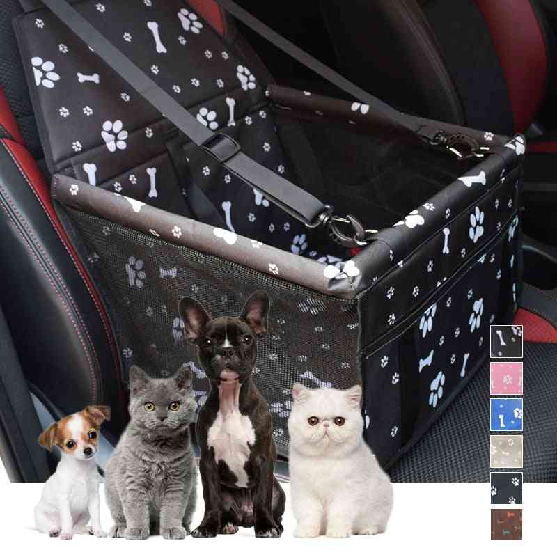 Folding Waterproof Travel Car Carriers Bag For Dogs, Cats - Carrier Basket Cover For Pet