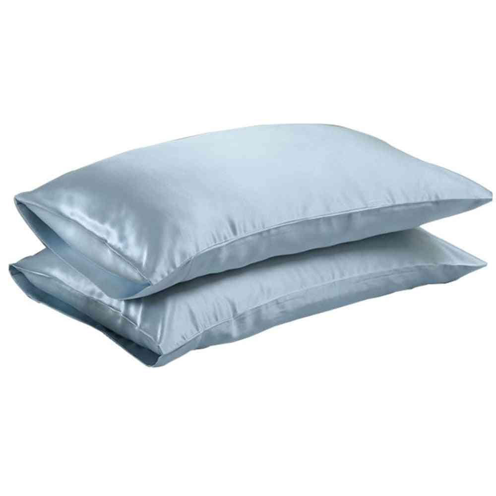 High Standard Pure Satin Silk Soft Pillowcase Cover - Chair Seat Bedding Square Pillow Cases