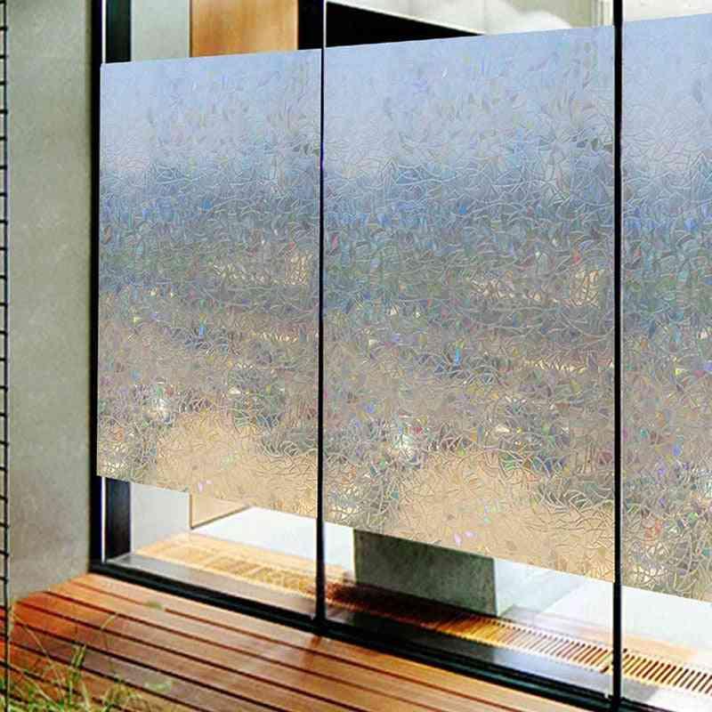 Geometric Pattern Transparent Self Adhesive Wallpaper Pvc Window Glass Door Stickers