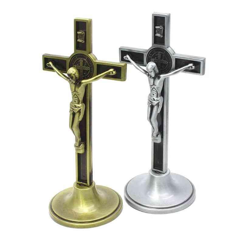 Cross Crucifix Christ Catholic Jesus Religious Church Decoration Stand - Wall Antique Home Chapel Decor
