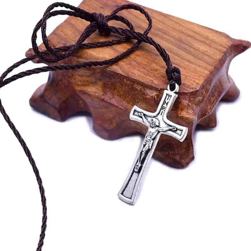 Retro Jesus Cross-necklace-christian Charm Jewelry & Women