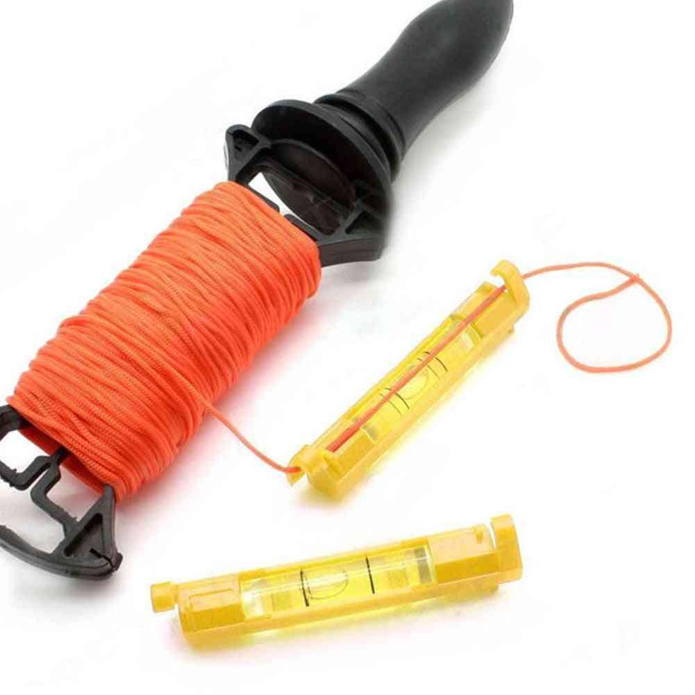 Mini Line Hanging Spirit Level - Brick Laying String Bubble Hanger Hand Tool