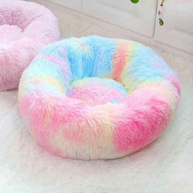 Washable Round Plush Super Soft Cotton Mat & Bed For Pet Dog Cat