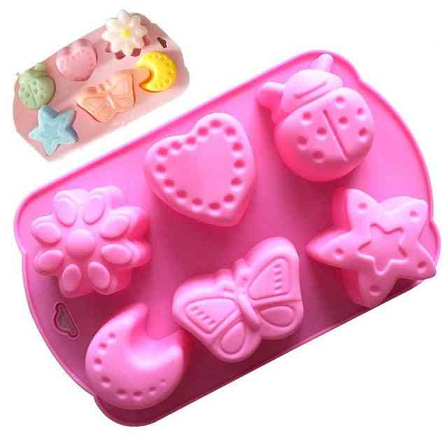 Cute Design Cat Feet Flower Moon Silicone Mold - Cake Chocolate Handmade Soap Making Mold