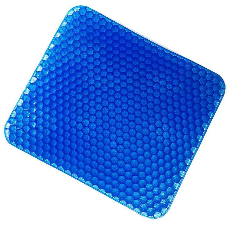 Elastic Gel Seat Cushion With Black Case - Non-slip Comfortable Office Chair Health Care Pain Release Massage Seat Cushion