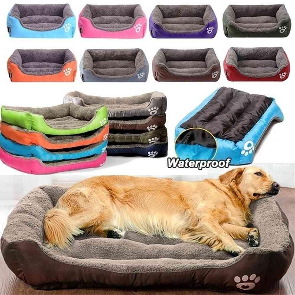 Waterproof Large Soft & Warm Cozy Pet Cat Dog Bed & Basket Mat
