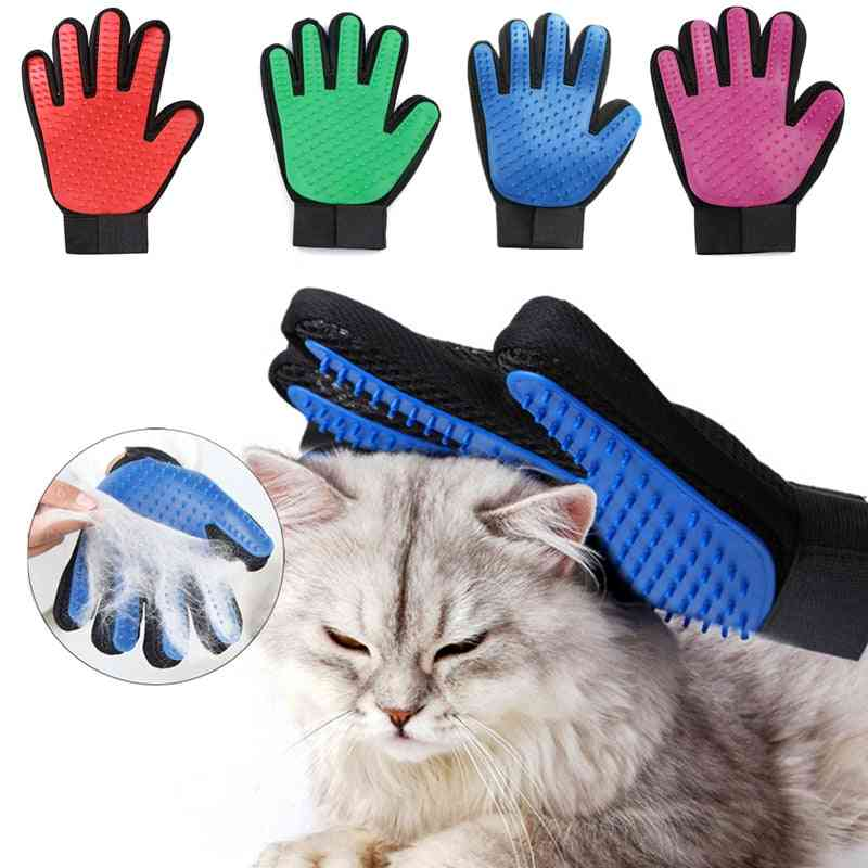 Grooming & Cleaning Pet Hair Removal, Deshedding Back Massage Gloves Dog/cat