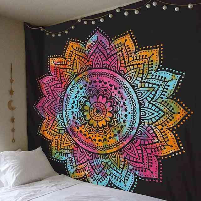 Large Mandala Indian Tapestry Wall Hanging Bohemian Beach Mat 200x150cm - Polyester Blanket Yoga Mat