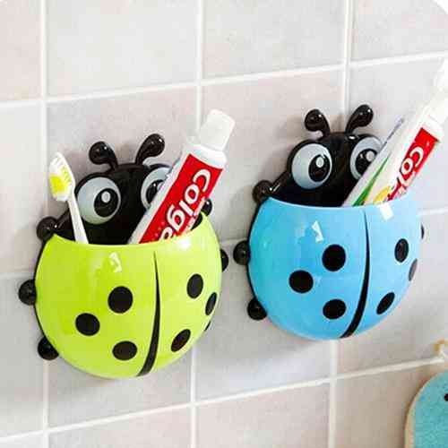 Household Suction Ladybug Toothbrush Holder
